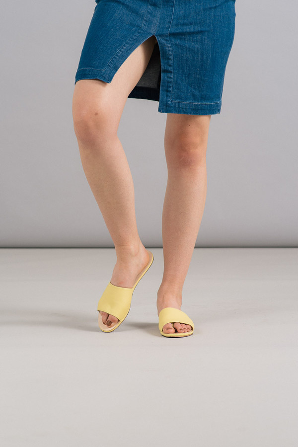 The Palatines Caelum Slide Sandal in Yellow