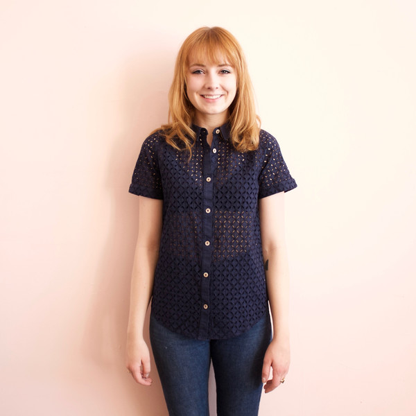 California Tailor Surfside eyelet blouse