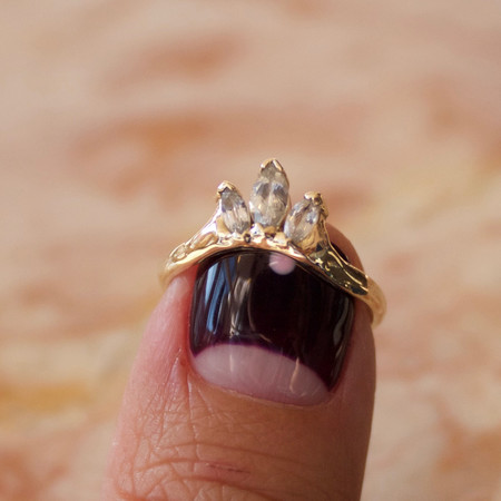 Goldengrove Jewelry white sapphire crown ring