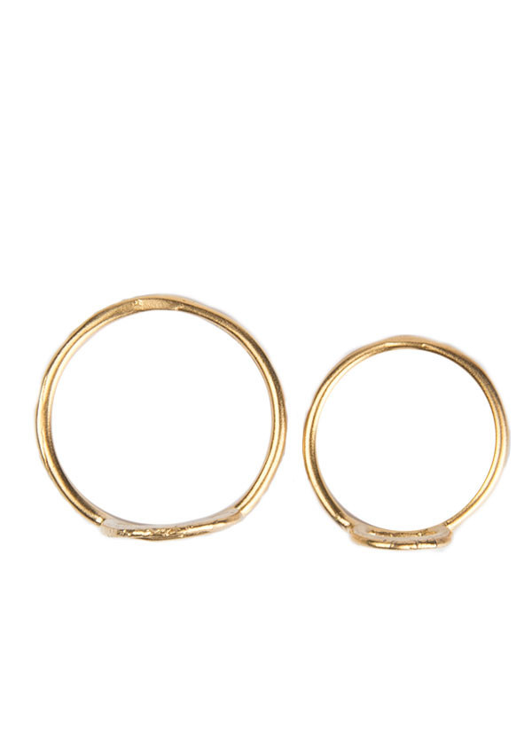 Takara - Crown Midi Ring Set in Gold