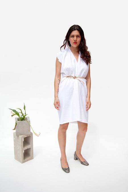 Miranda Bennett Tribute Dress, Denim in White