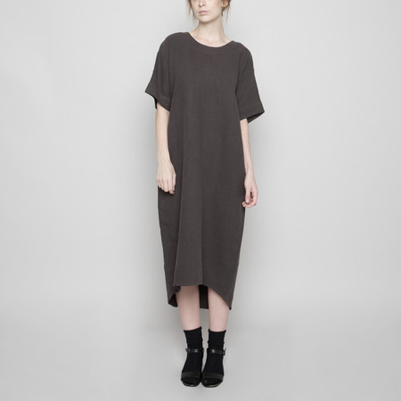 7115 by Szeki Relaxed Boat-Neck Midi- Grey FW16