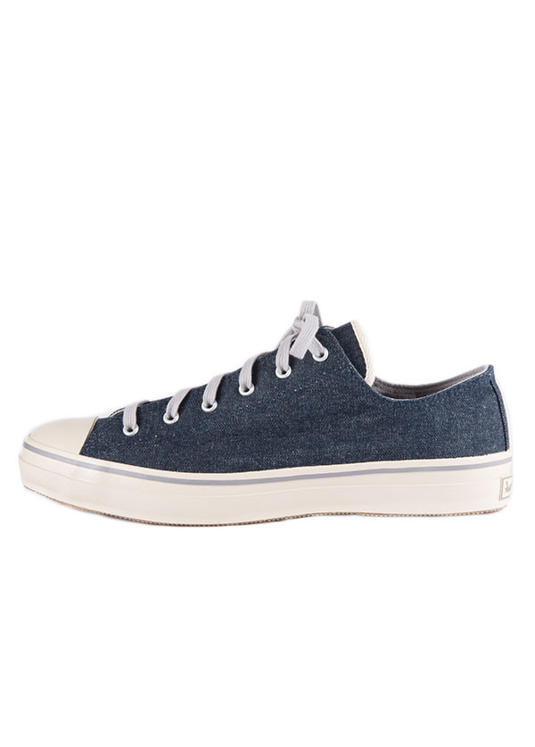 The Hill-Side - Hemp Denim Low Top Sneaker in Indigo