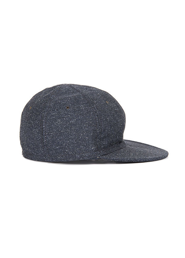 The Hill-Side - Herringbone Tweed Ball Cap, Navy