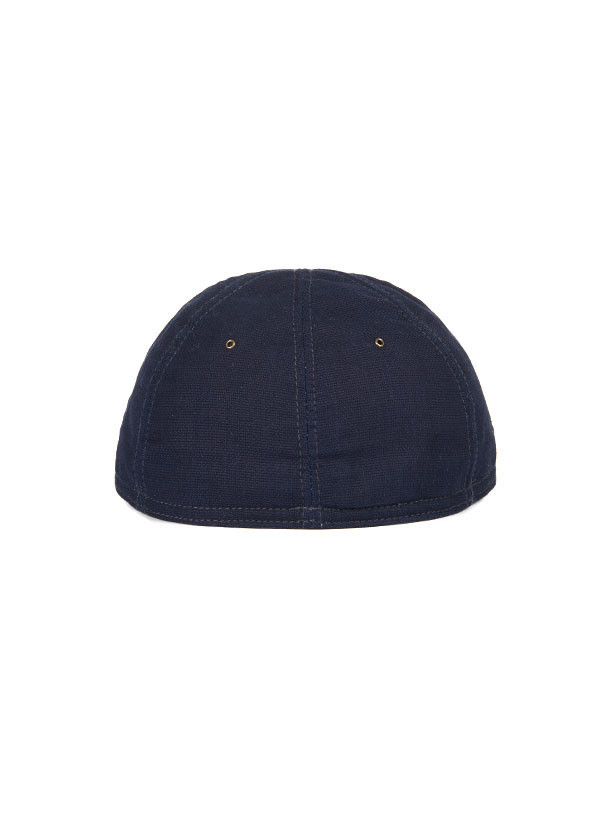 The Hill-Side - Panama Cloth Ball Cap, Indigo x Indigo