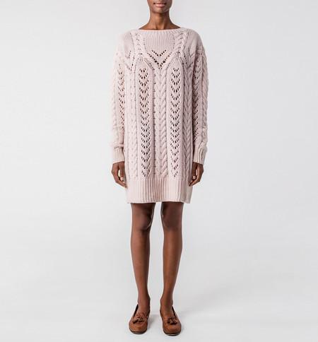 Ryan Roche Fisherman Sweater Apricot