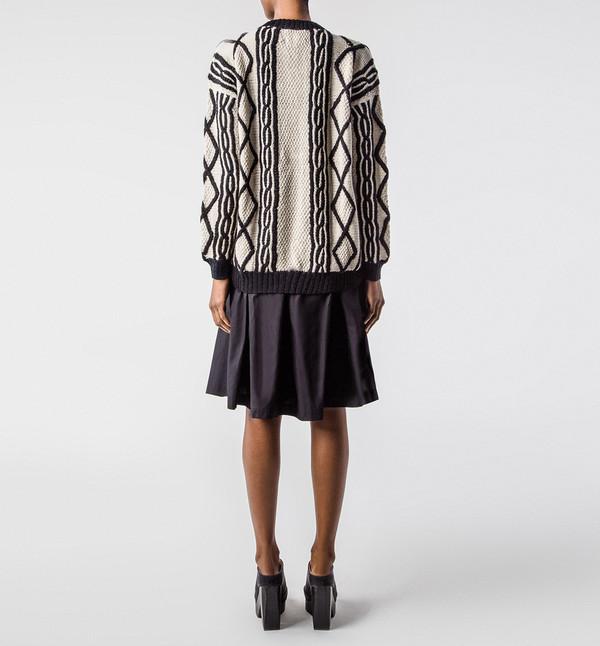 H. Fredriksson Ink Sweater Cream & Black