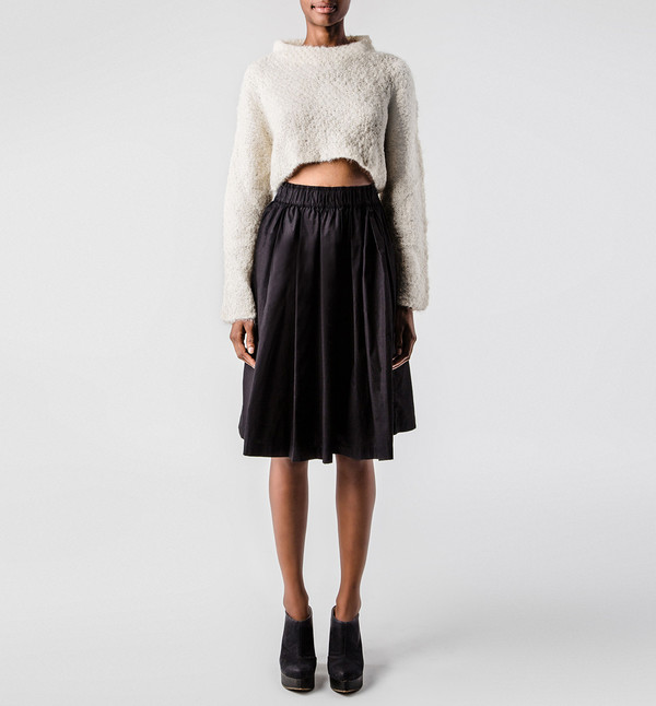 VOZ Ivory Crop Sweater