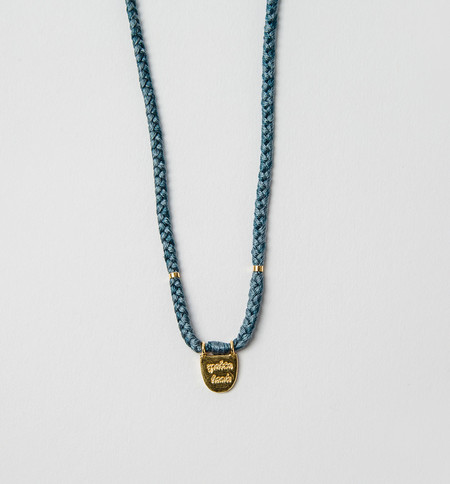 The Brave Collection Teal Brass Necklace
