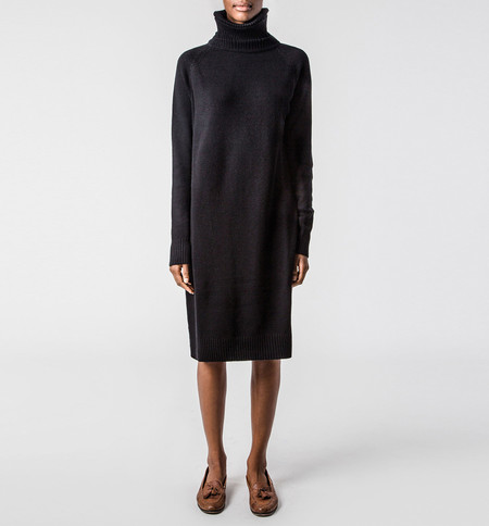 Ryan Roche Turtleneck Dress Black