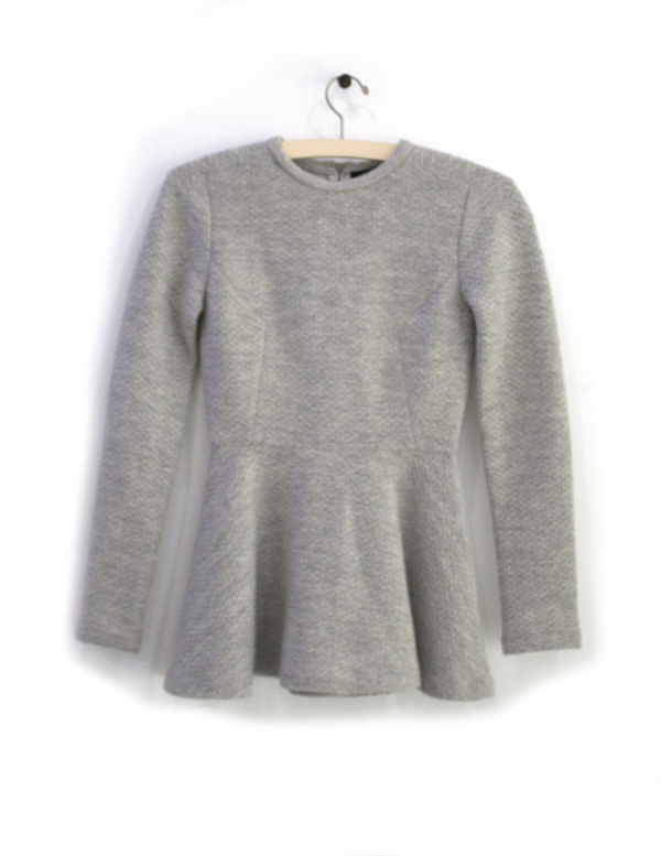 Priory of Ten Grey Knit Top