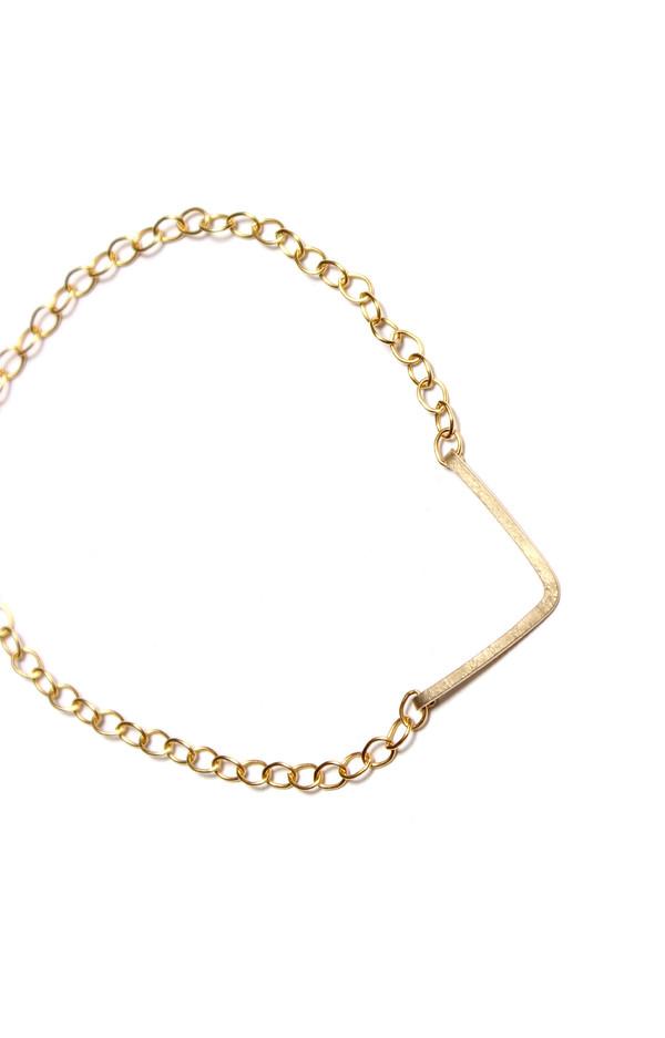 Sarah Dunn Gold V Bar Bracelet