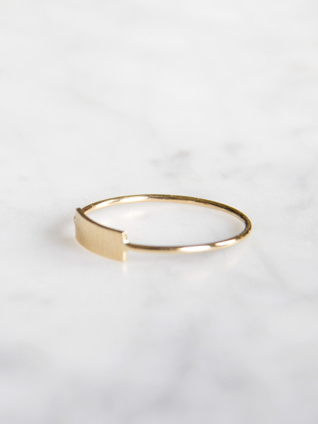 Kristen Elspeth Blade Ring Gold
