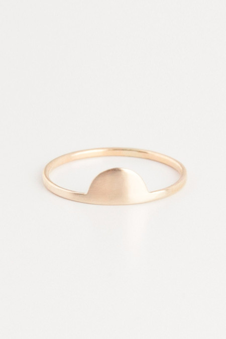 Emi Grannis Half Moon 14k Yellow Gold Ring