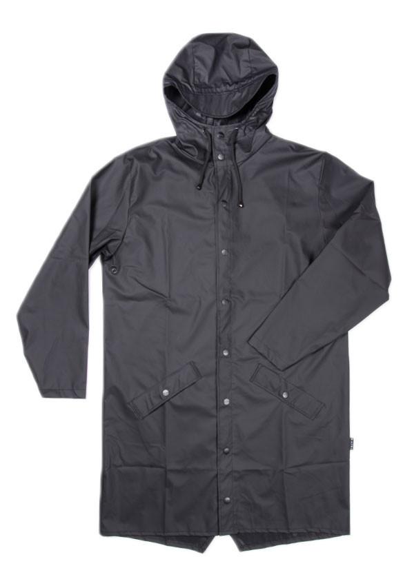 Rains - Long Jacket in Black