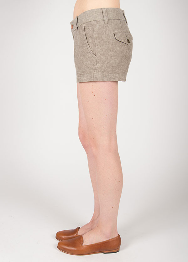 The West is Dead - Chino Short in Tan Chambray