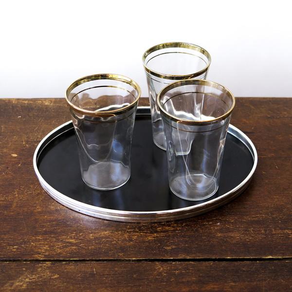 Erica Tanov silver-rimmed ebony tray