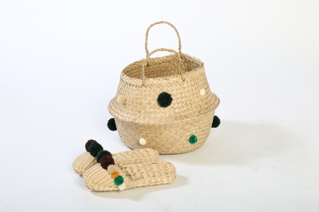 Lush Meadow basket & Slipper combo