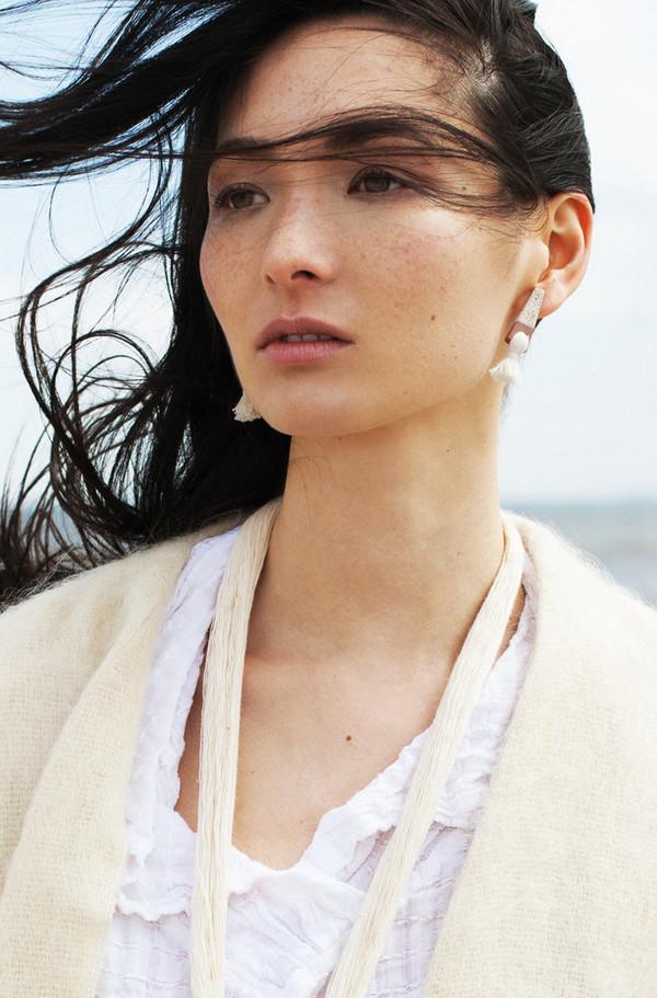 Gamma Folk Mini Tassel Earrings