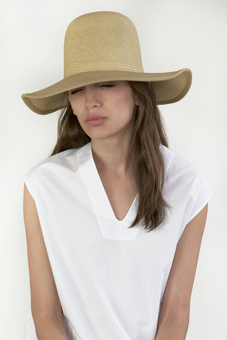 clyde Panama Hat in Camel