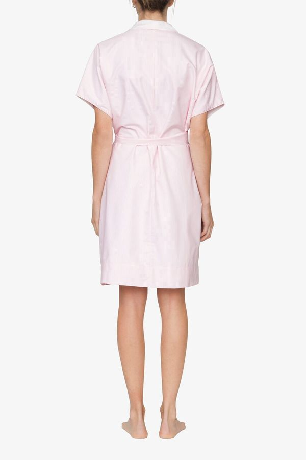 The Sleep Shirt Reversible Robe Pink Oxford Stripe