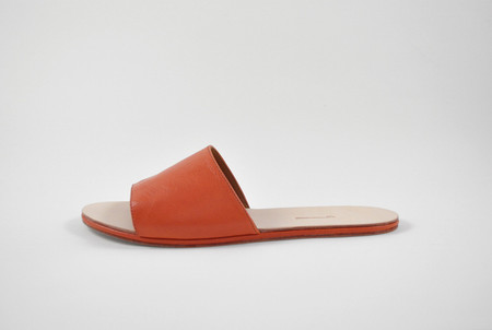 The Palatines Shoes Caelum Slide Sandal - Rust Leather