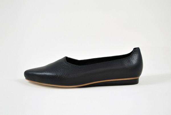 The Palatines Shoes Paratus High Vamp Wedge - Black