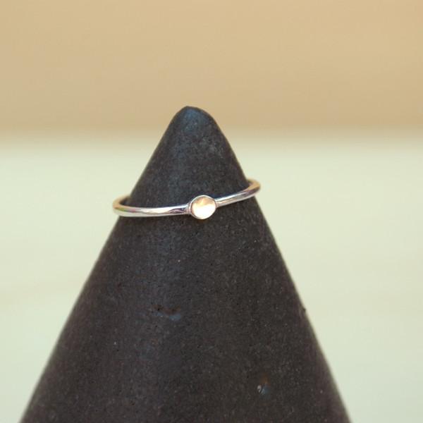 Bing Bang NYC Tiny Circle Ring - Silver, Yellow or Rose Gold