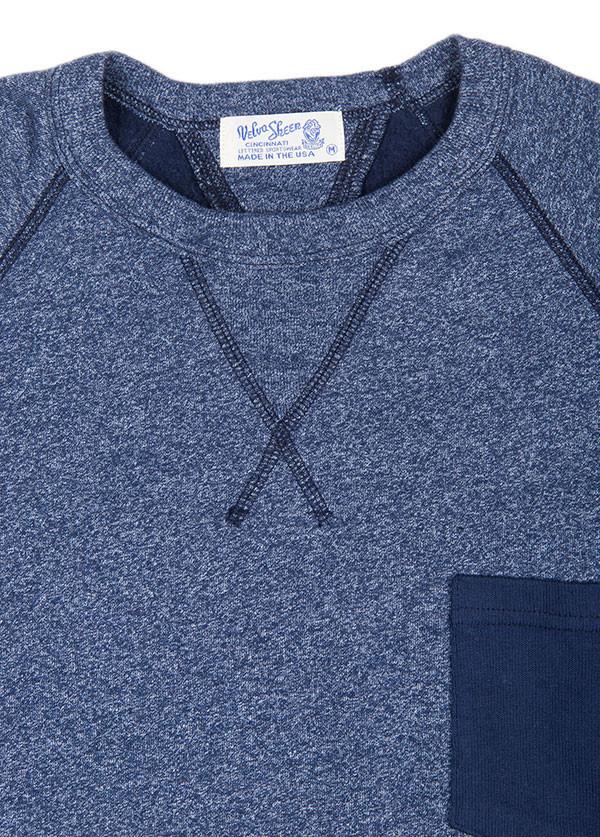 Velva Sheen - Men's Two Tone Raglan Sweatshirt in Blue