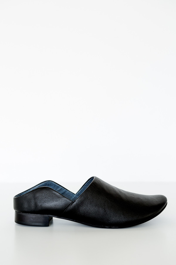 Intentionally Blank Leather Plates Mule
