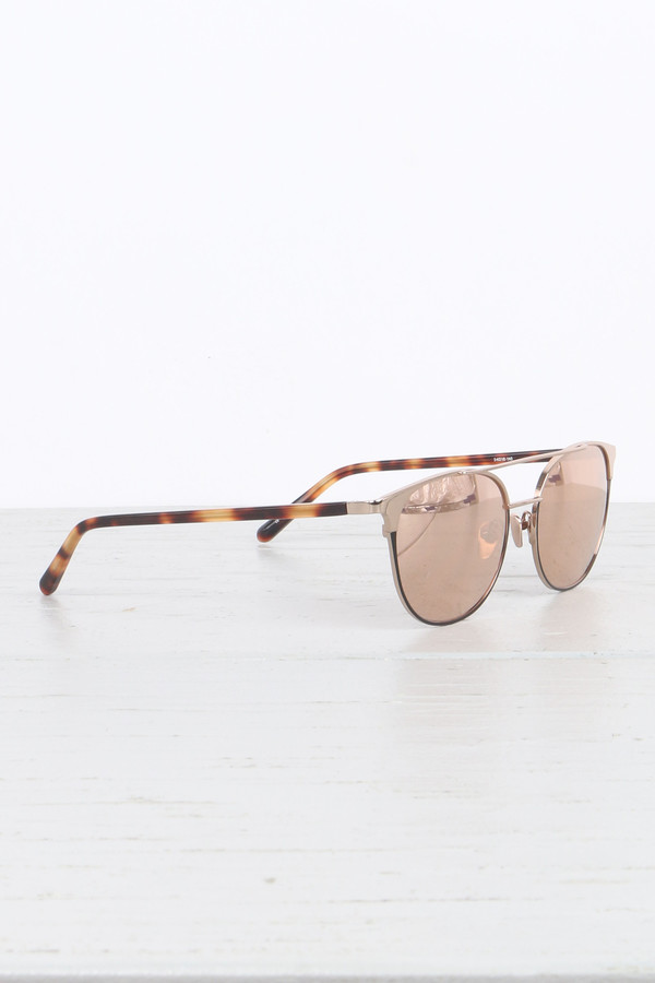 Linda Farrow Straight Browline Sunglasses