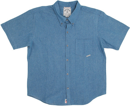 Men's Iron and Resin DELACROIXSHIRT LIGHT DENIM SHIRT