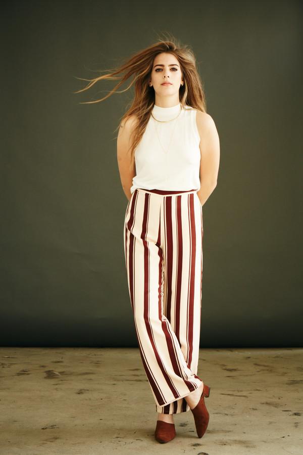 BETWEEN TEN Charlotte Pant - Pink Stripe