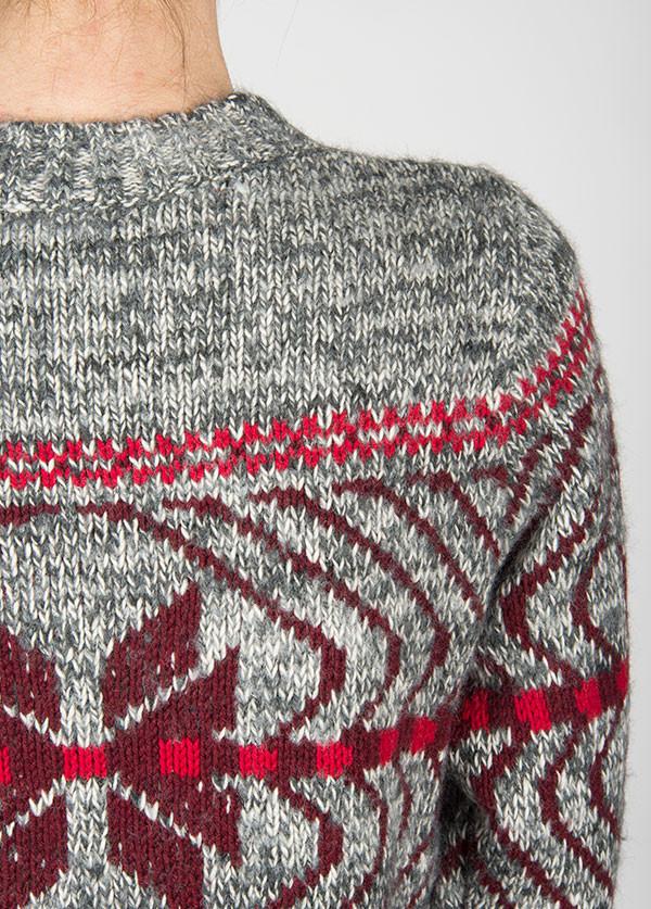 Woolrich - Native Crew Sweater in Grey Marl