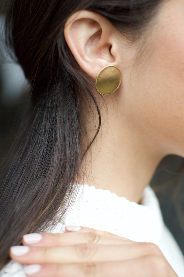 YOUNG FRANKK Circle Studs - Gold