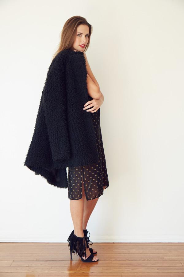 Francoise Dress - Black + Gold