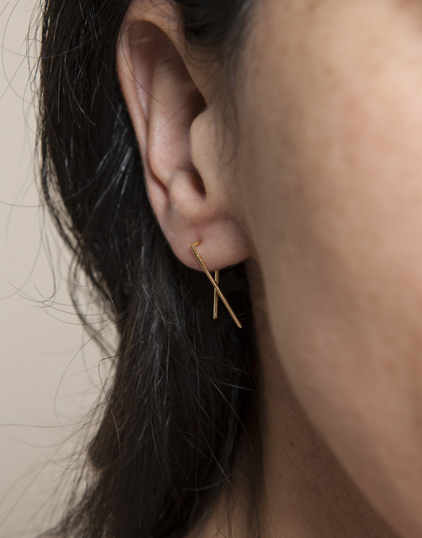 MAU JEWELRY Slip-On Earrings Small