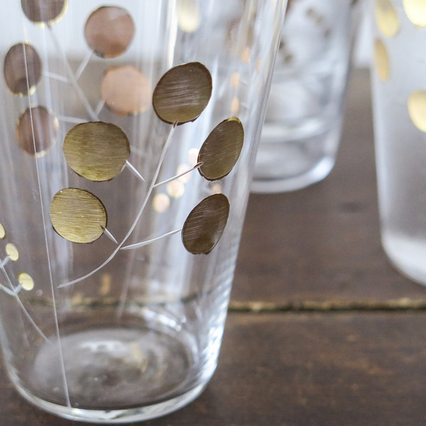 Roost golden berry glasses