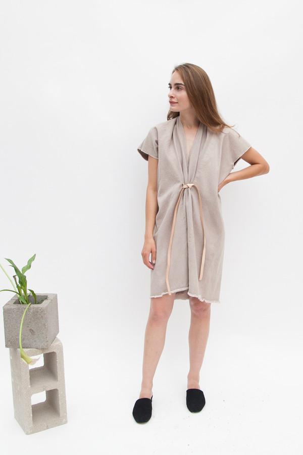 Miranda Bennett In-Stock: Tribute Dress, Denim in Dove