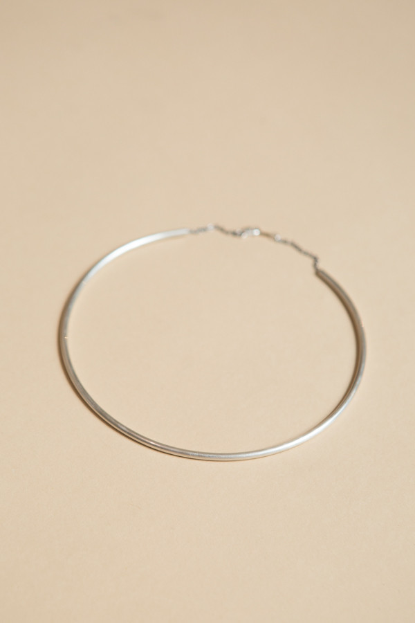Baleen Simple Cuff Necklace / Silver
