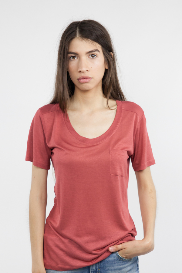 Just Female River Tee - Marsala Red