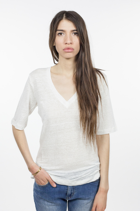 Emerson Fry Luxe Emerson Tee - White Linen