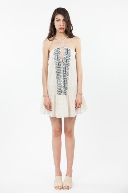 Bec & Bridge Boheme Midi Dress - Cream/Ink