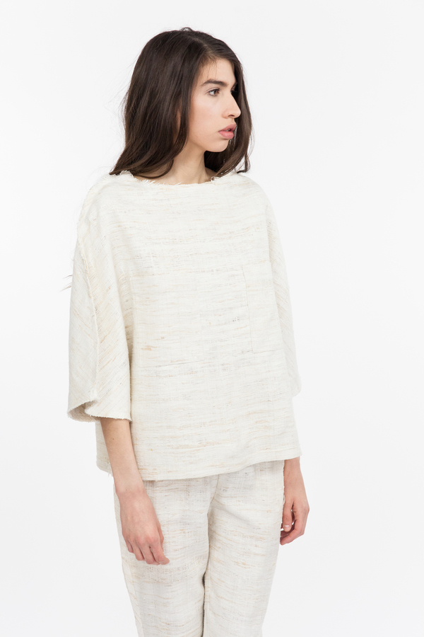 Priory Sayan Top - Cream/Beige