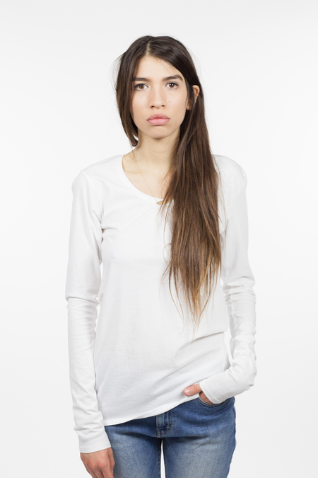 Kowtow Building Block Long Sleeve Top - White