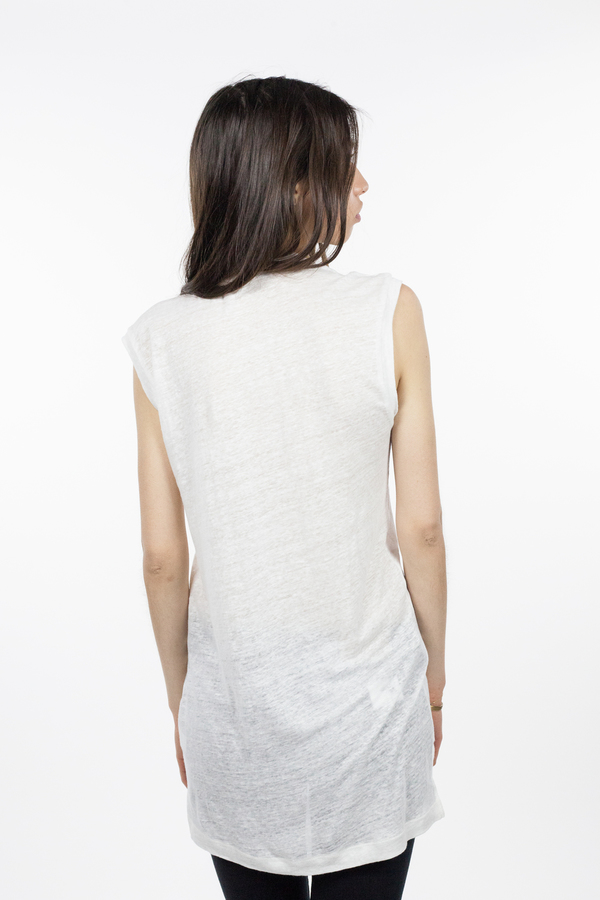 Emerson Fry Sleeveless Crew Neck - White