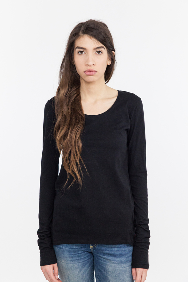 Kowtow Building Block Long Sleeve Top - Black