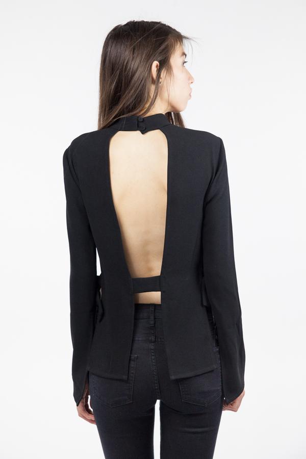 Bec & Bridge Phoenix Long Sleeve Top - Black
