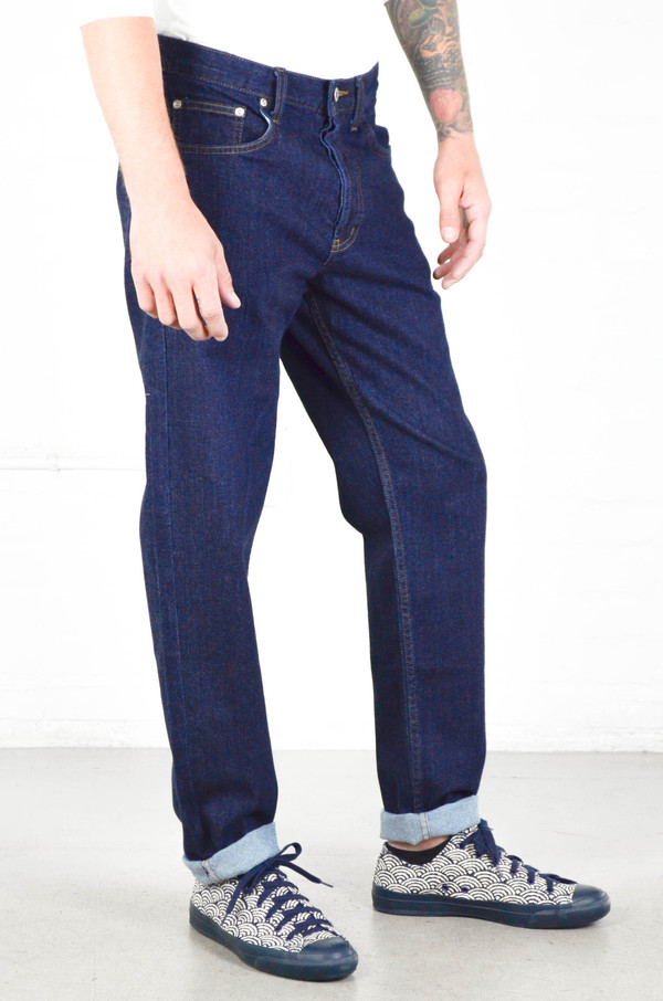 Men's Naked and Famous Silk Stretch Indigo Easy Guy