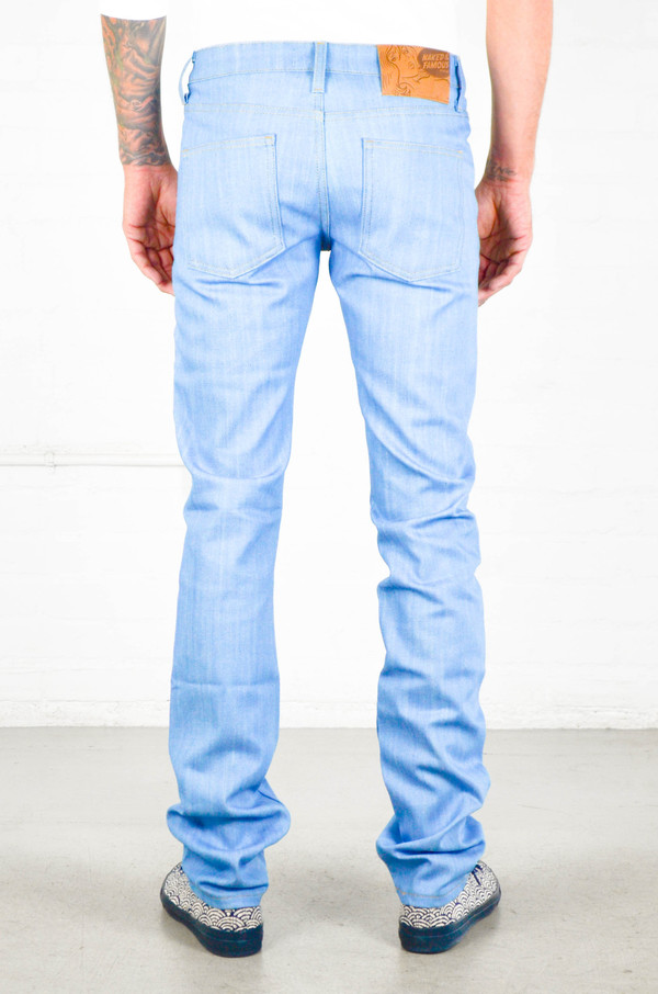 Men's Naked and Famous Sky Blue Power Stretch SkinnyGuy
